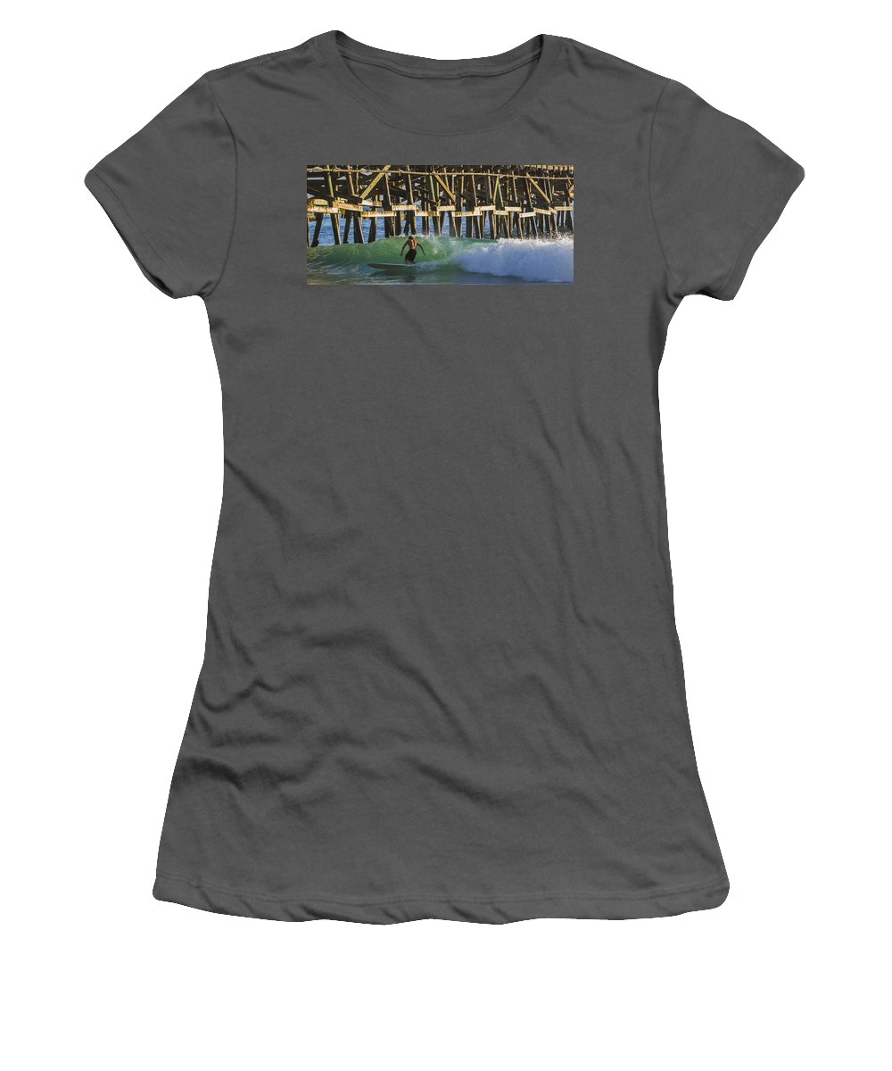 Surfer Women's T-Shirt (Athletic Fit) featuring the photograph Surfer Dude 2 by Scott Campbell