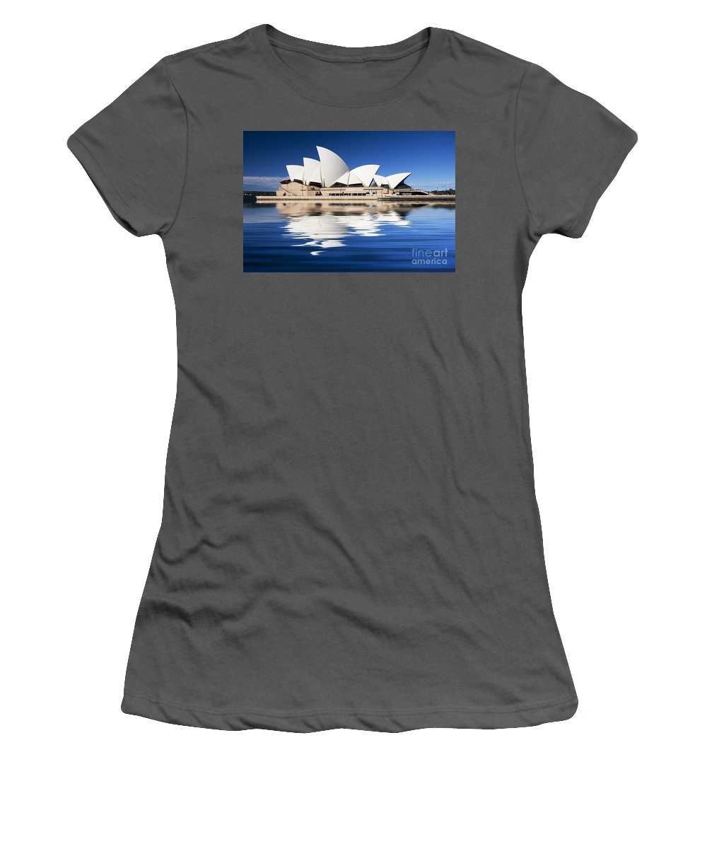 Sydney Opera House Women's T-Shirt (Athletic Fit) featuring the photograph Sydney Icon by Sheila Smart Fine Art Photography