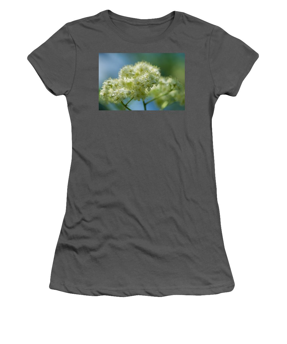 Abstract Women's T-Shirt (Athletic Fit) featuring the photograph Tender Whites by Alexander Senin