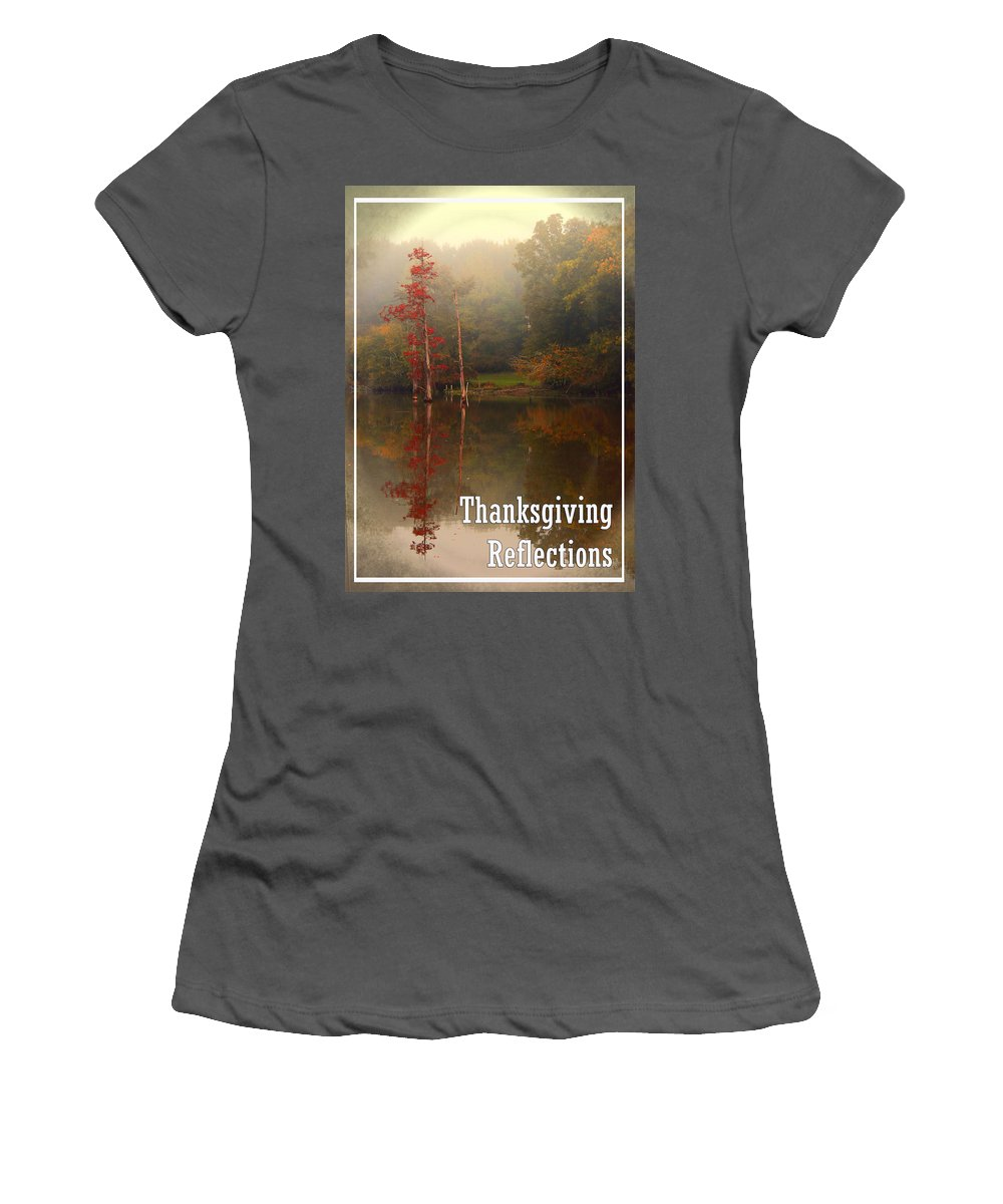 Louisiana Women's T-Shirt (Athletic Fit) featuring the photograph Thanksgiving Reflections by Karen Beasley
