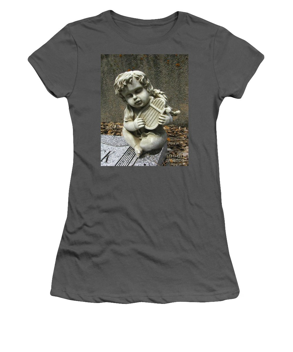 Cupid Women's T-Shirt (Athletic Fit) featuring the photograph The Musician 01 by Peter Piatt