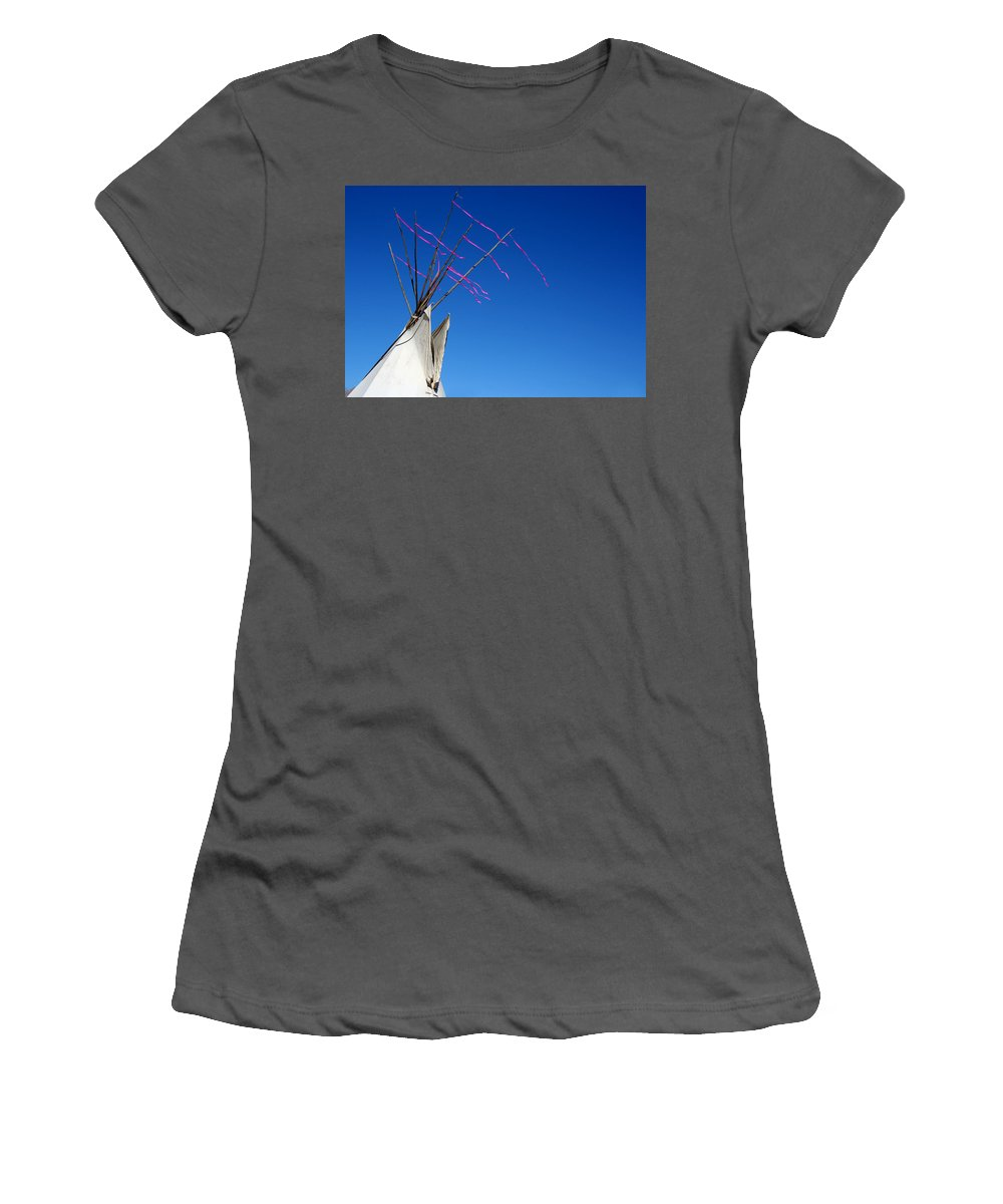 American Indian Women's T-Shirt (Athletic Fit) featuring the photograph The Way The Wind Blows by Joe Kozlowski