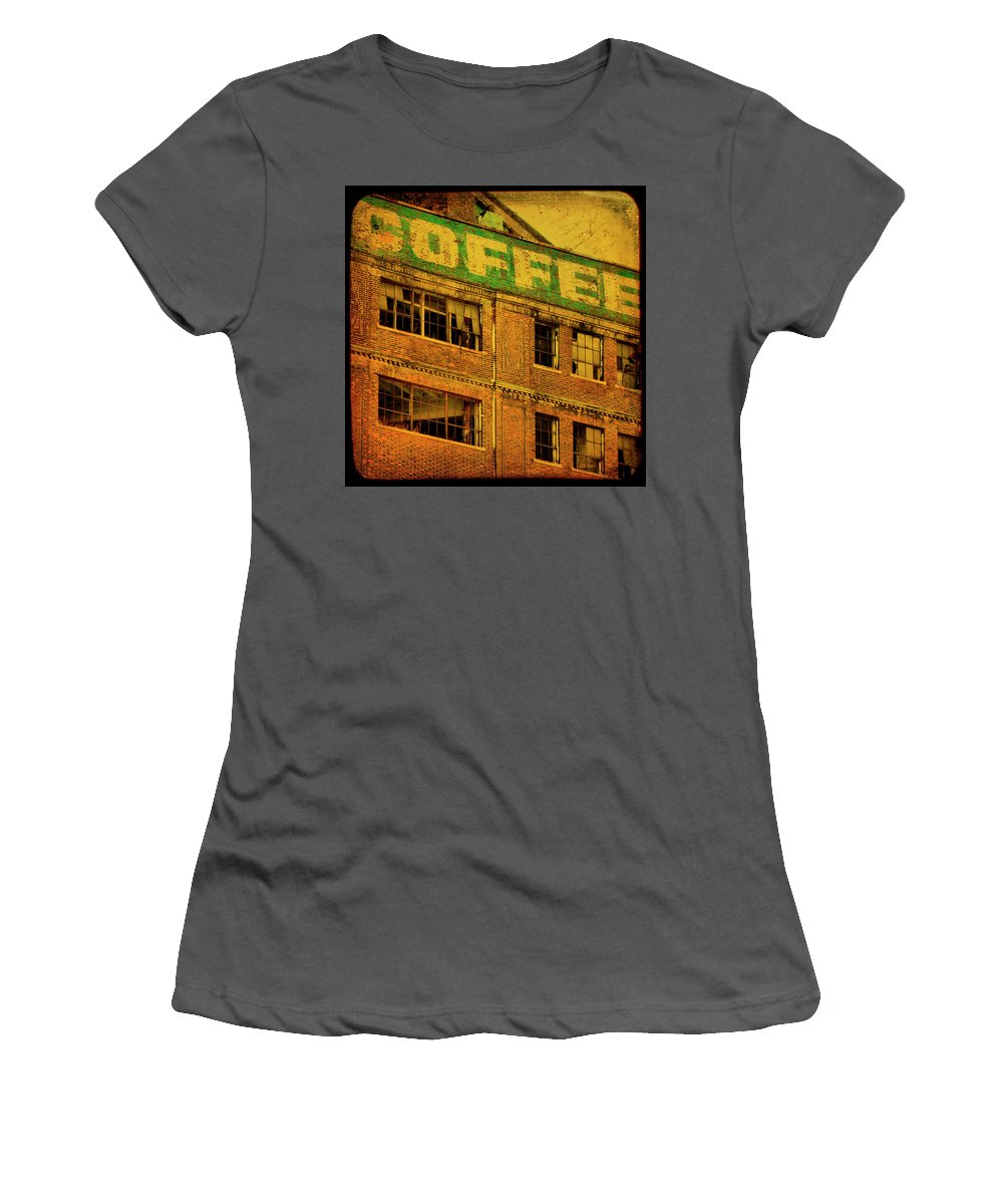 Urban Women's T-Shirt (Athletic Fit) featuring the photograph Time For Coffee by Gothicrow Images