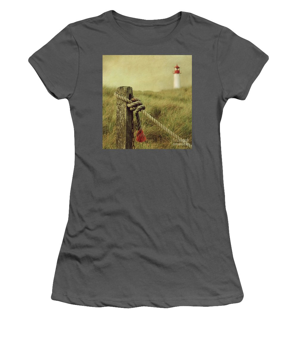 Lighthouse Women's T-Shirt (Athletic Fit) featuring the photograph To The Lighthouse by Hannes Cmarits