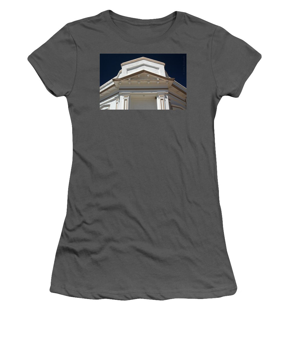 Tombstone Women's T-Shirt (Athletic Fit) featuring the photograph Tombstone Courthouse by Joe Kozlowski