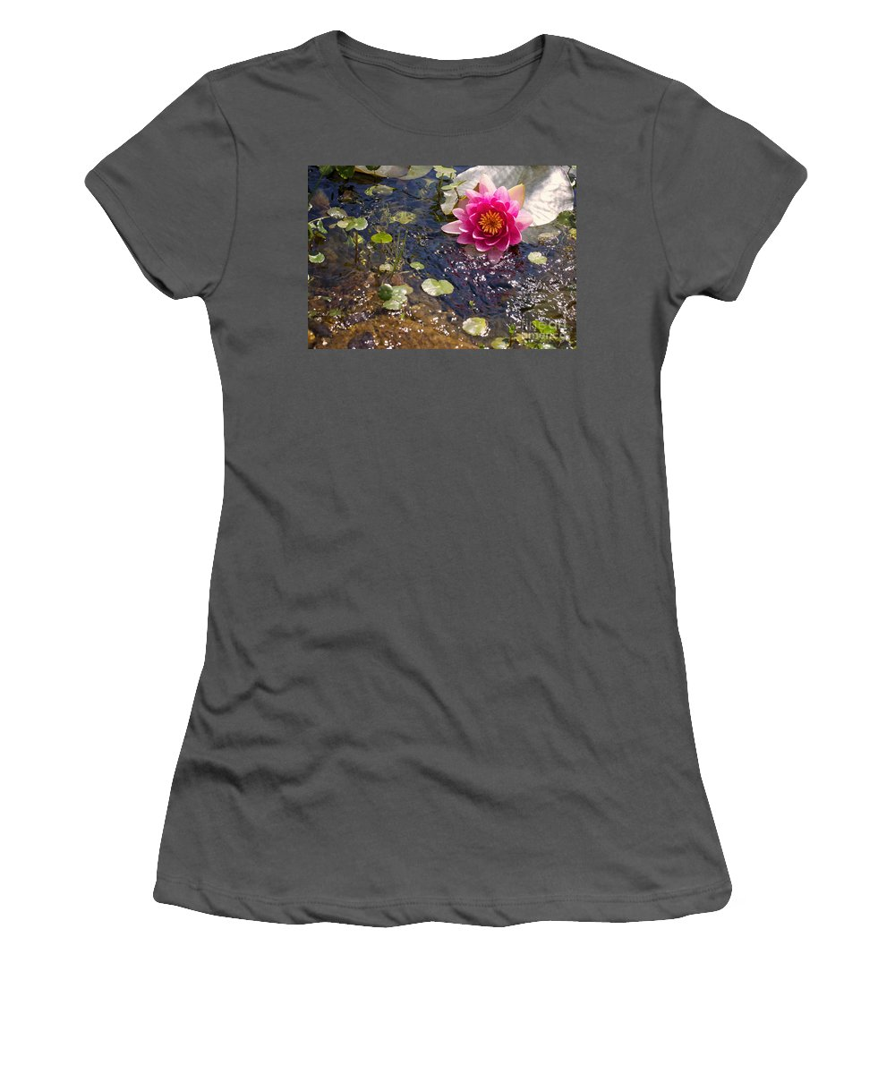 Pink Women's T-Shirt (Athletic Fit) featuring the photograph Touch Of Pink by Erika Weber