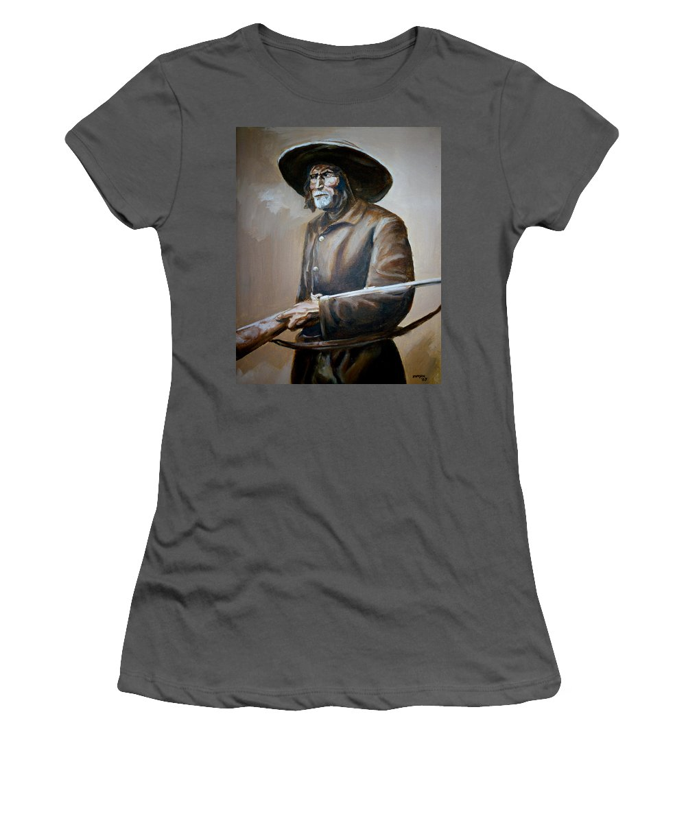 Trapper Women's T-Shirt (Athletic Fit) featuring the painting Trapper by Bryan Bustard