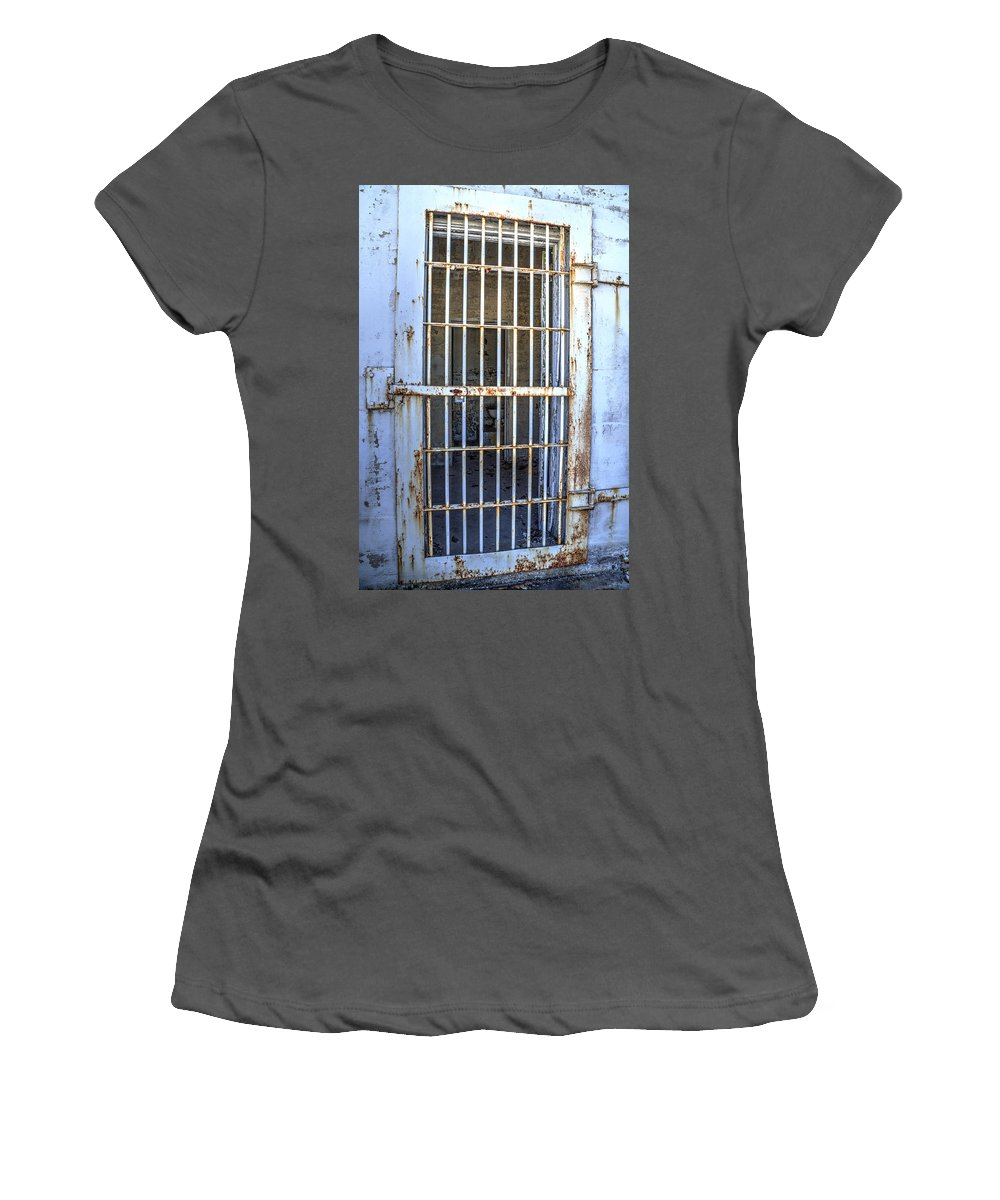 Doors Women's T-Shirt (Athletic Fit) featuring the photograph Trustee Entrance by Charles Hite