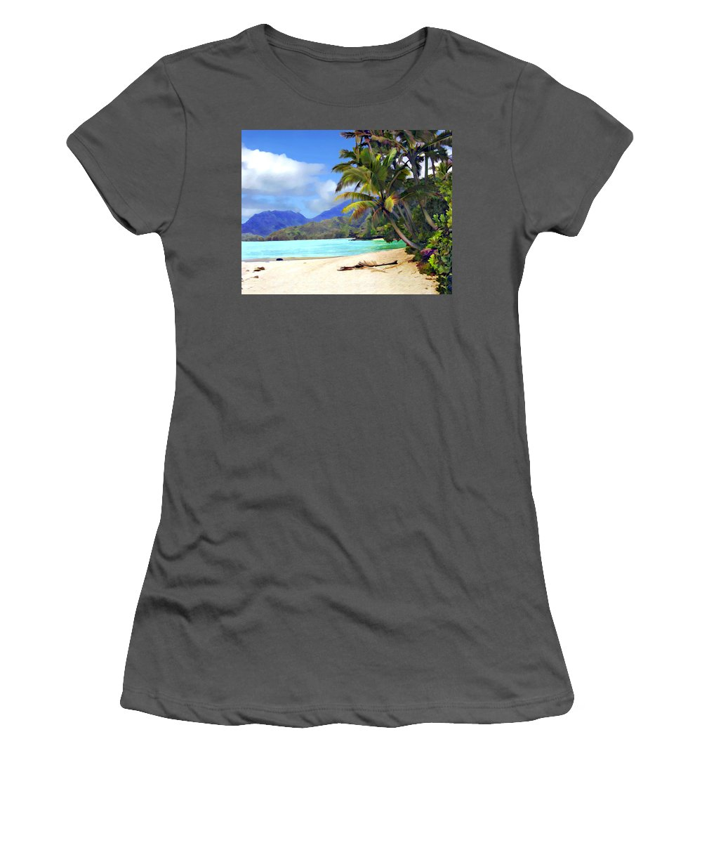 Hawaii Women's T-Shirt (Athletic Fit) featuring the photograph View From Waicocos by Kurt Van Wagner