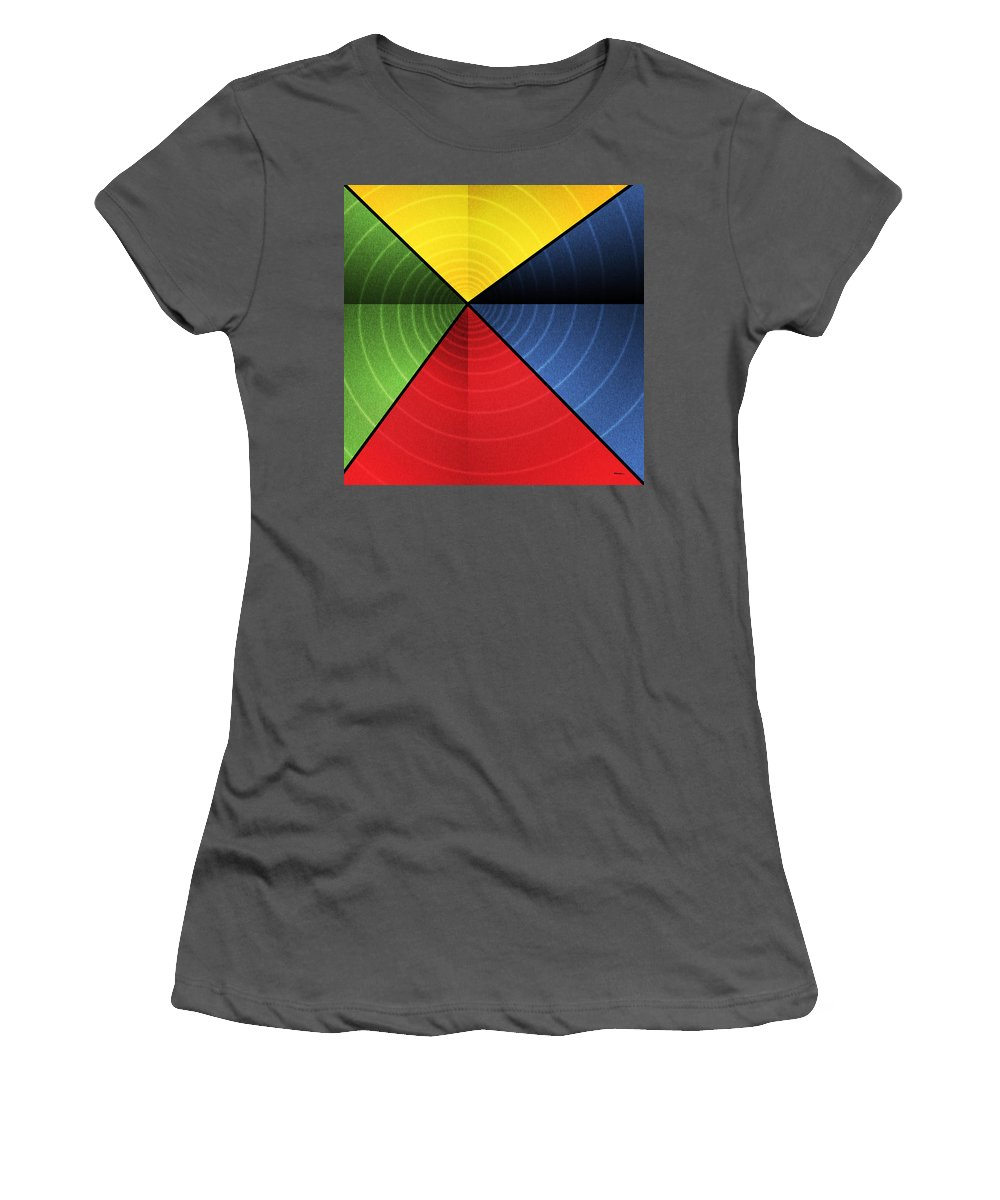 Abstract Women's T-Shirt (Athletic Fit) featuring the digital art Vortex by James Kramer