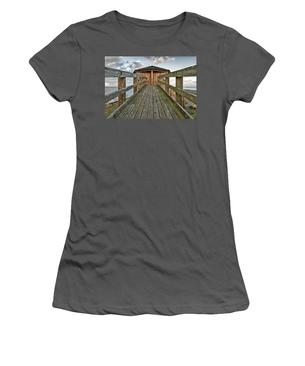 Wooden House Women's T-Shirt (Athletic Fit) featuring the photograph Watch Tower by Mike Santis