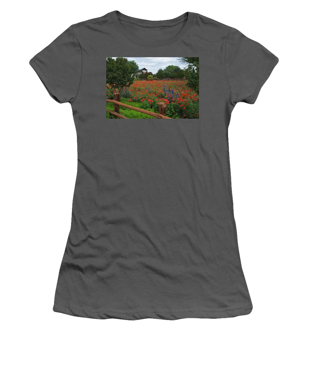 Wildflowers Women's T-Shirt (Athletic Fit) featuring the photograph Wildseed Farms by Lynn Bauer