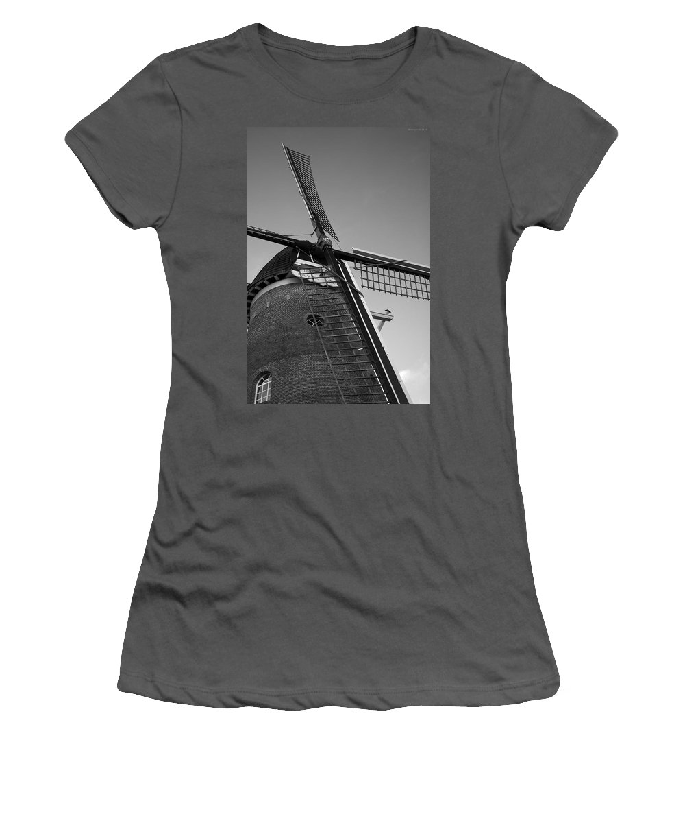 Windmill Women's T-Shirt (Athletic Fit) featuring the photograph Windmill by Miguel Winterpacht