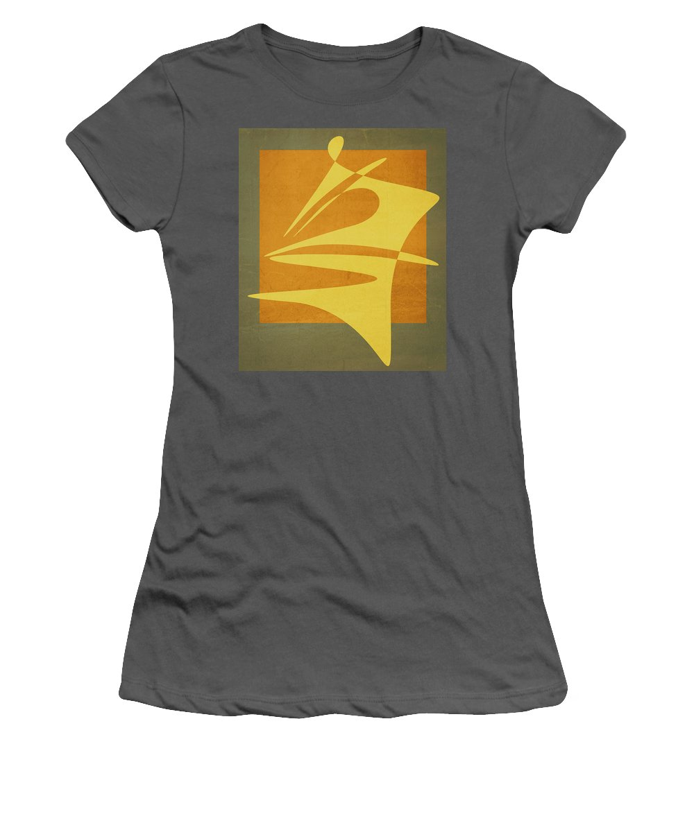 Minimalism Women's T-Shirt (Athletic Fit) featuring the digital art Window Dressing by Richard Rizzo