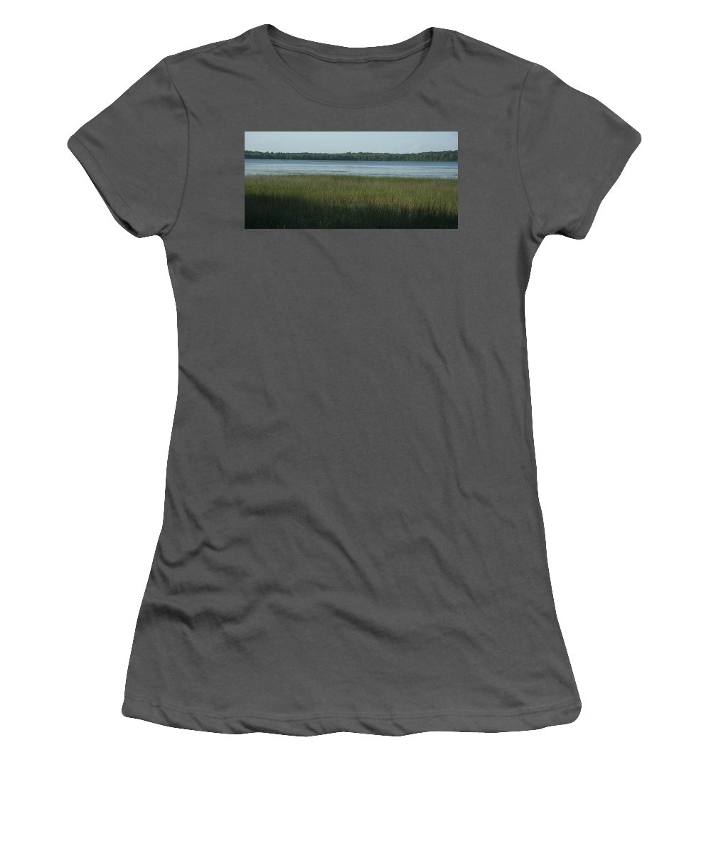 Photography Women's T-Shirt (Athletic Fit) featuring the photograph Worden Pond Afternoon by Steven Natanson
