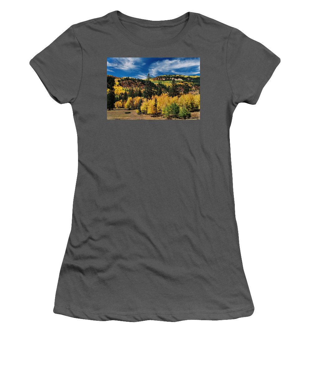 Chama Women's T-Shirt (Athletic Fit) featuring the photograph Patchwork by Ron Weathers