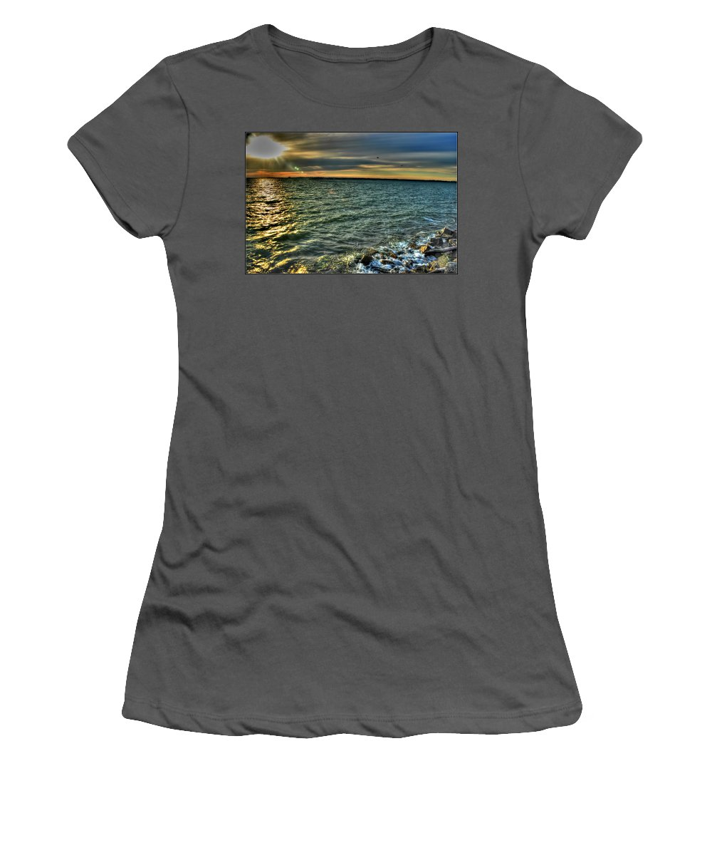 Women's T-Shirt (Athletic Fit) featuring the photograph 003 In Harmony With Nature Series by Michael Frank Jr