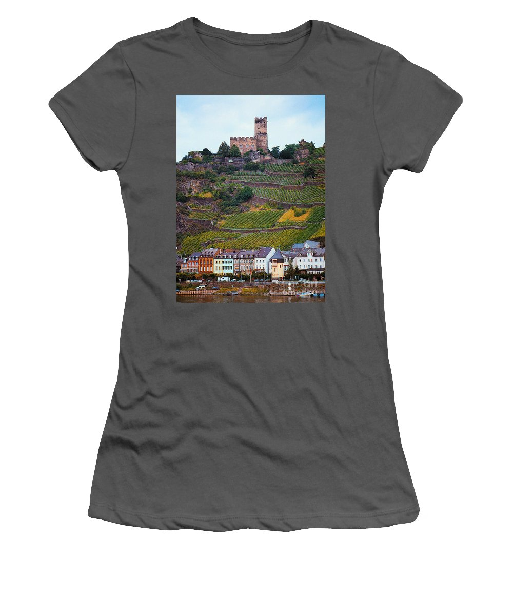 Rhine River Women's T-Shirt (Athletic Fit) featuring the photograph Along The Rhine River by Mike Nellums
