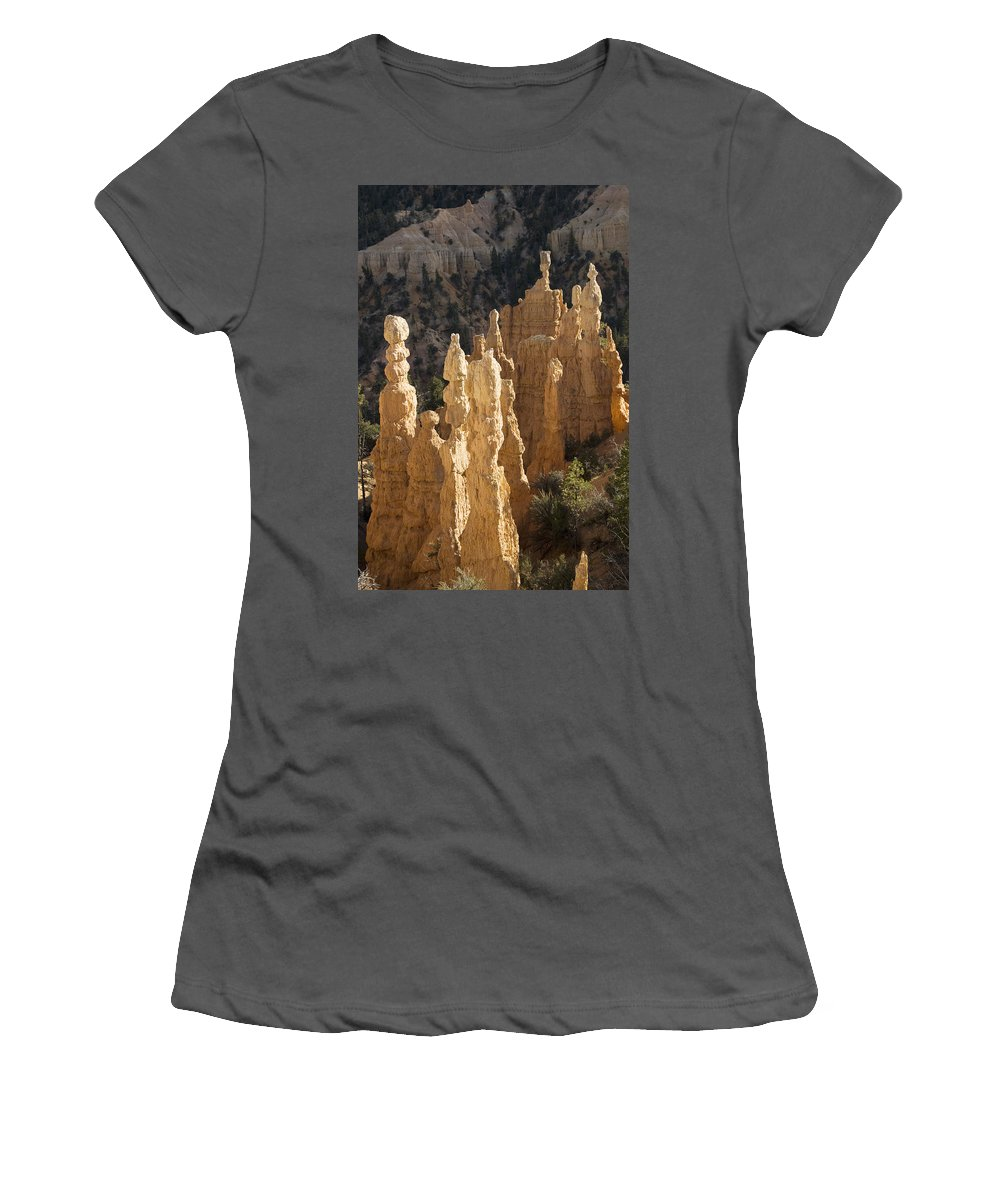 America Women's T-Shirt (Athletic Fit) featuring the photograph Fairyland Canyon by Gloria & Richard Maschmeyer