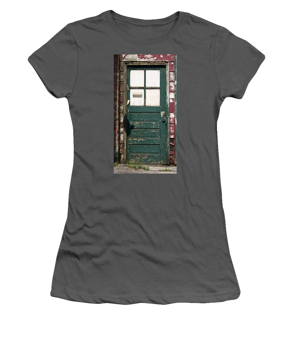 Door Women's T-Shirt (Athletic Fit) featuring the photograph Private by Lauri Novak