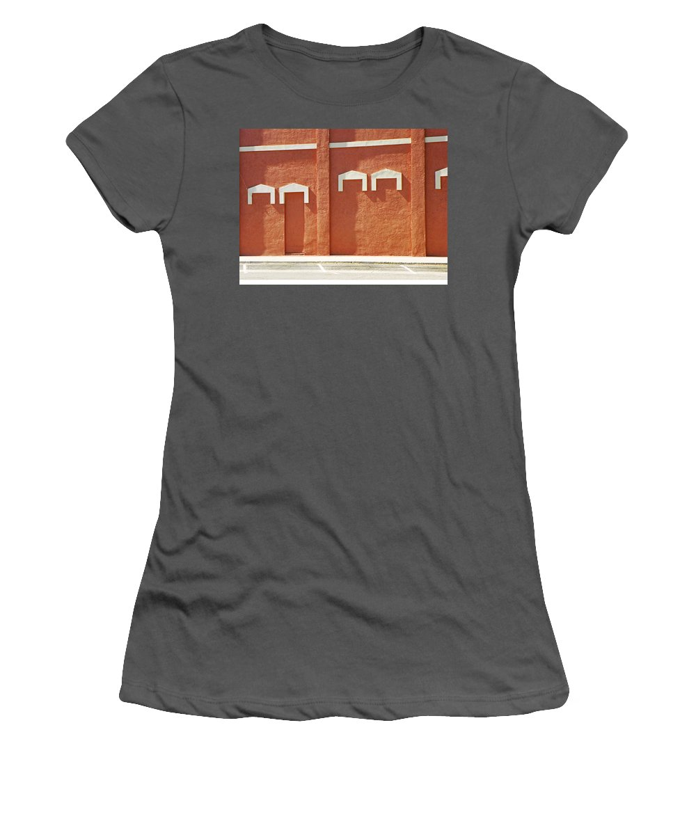 Abstract Women's T-Shirt (Athletic Fit) featuring the photograph The Door by Lenore Senior