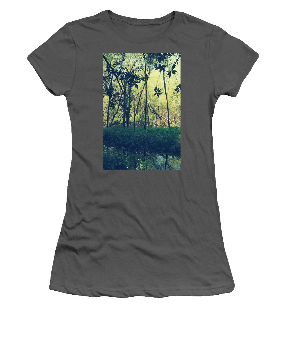 Trees Women's T-Shirt (Athletic Fit) featuring the photograph A Little Bit Stronger by Laurie Search