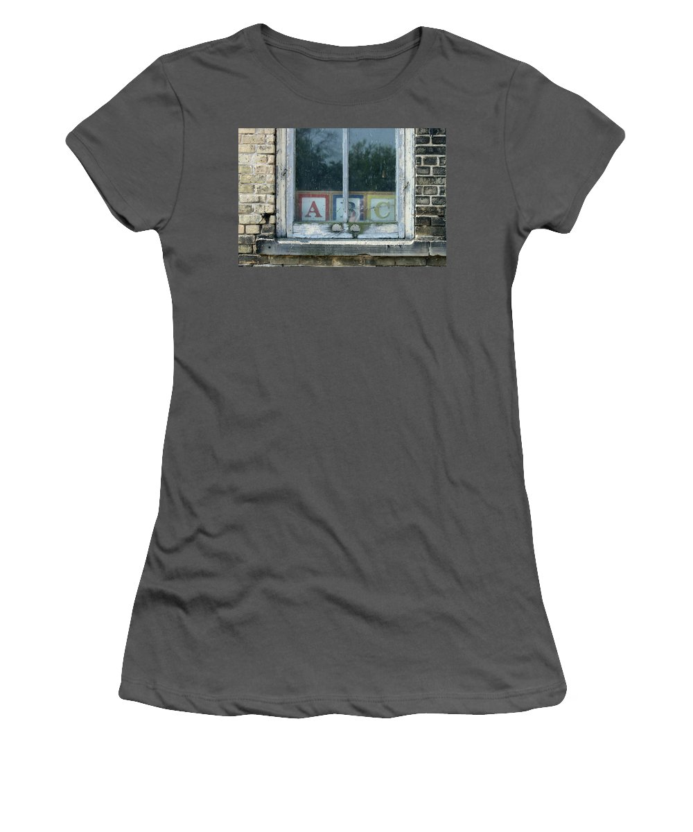 Blocks Women's T-Shirt (Athletic Fit) featuring the photograph ABC by Lauri Novak