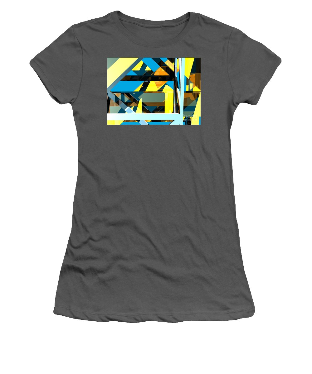 Abstract Women's T-Shirt (Athletic Fit) featuring the digital art Abstract Sine L 15 by Russell Kightley