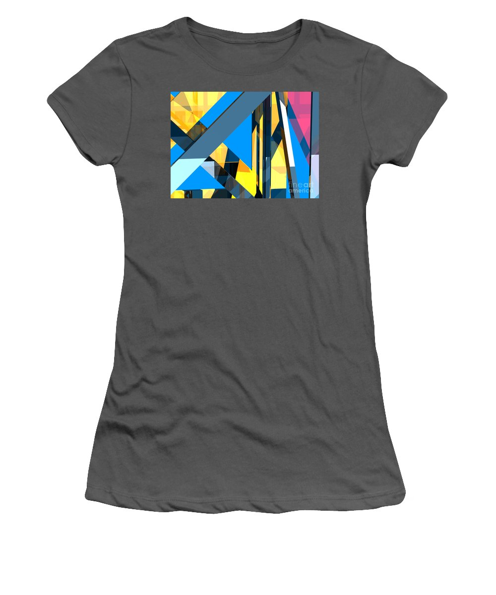 Abstract Women's T-Shirt (Athletic Fit) featuring the digital art Abstract Sine L 18 by Russell Kightley