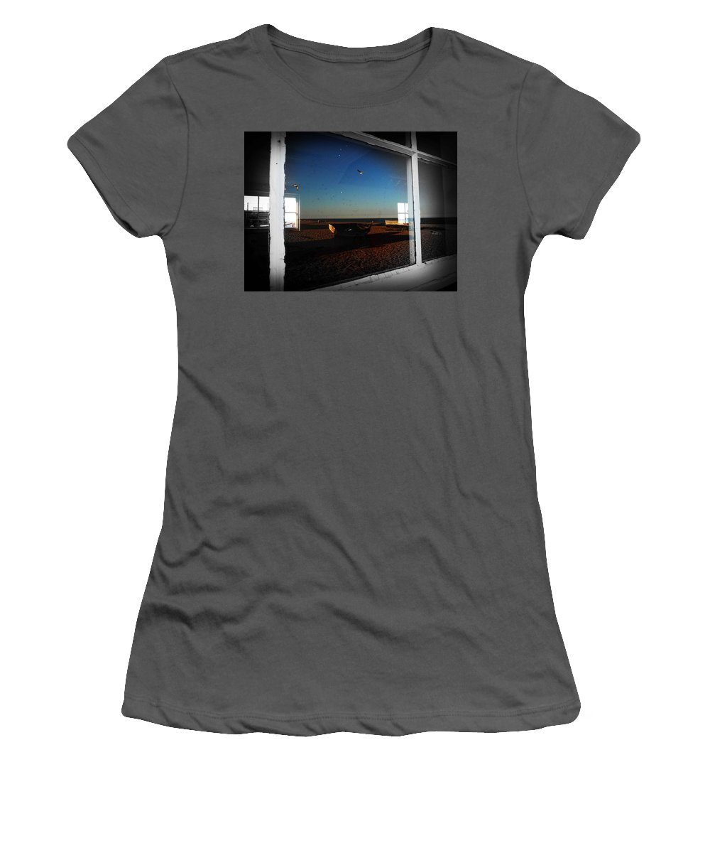 Window Women's T-Shirt (Athletic Fit) featuring the photograph Aldeburgh by Charles Stuart