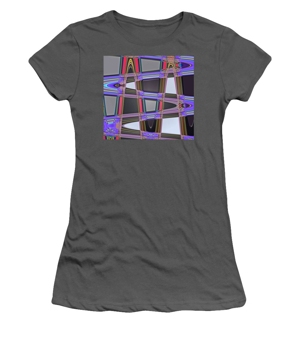 Digital Art Women's T-Shirt (Athletic Fit) featuring the photograph All Roads Lead by Bill Owen