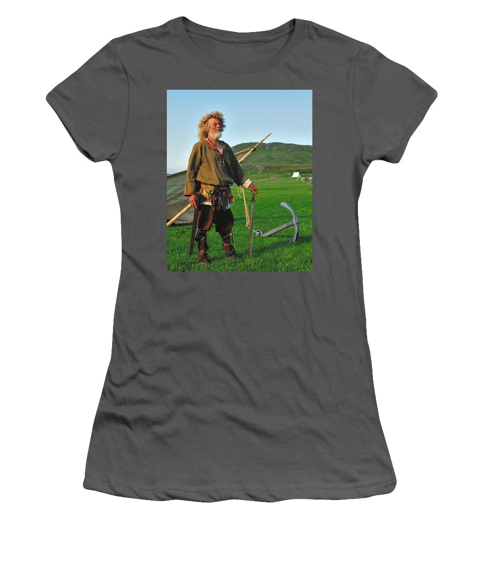 Norstead Women's T-Shirt (Athletic Fit) featuring the photograph Along The Viking Trail by Tony Beck