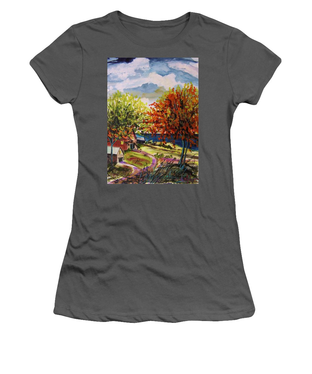 An Early Change Women's T-Shirt (Athletic Fit) featuring the painting An Early Change by John Williams
