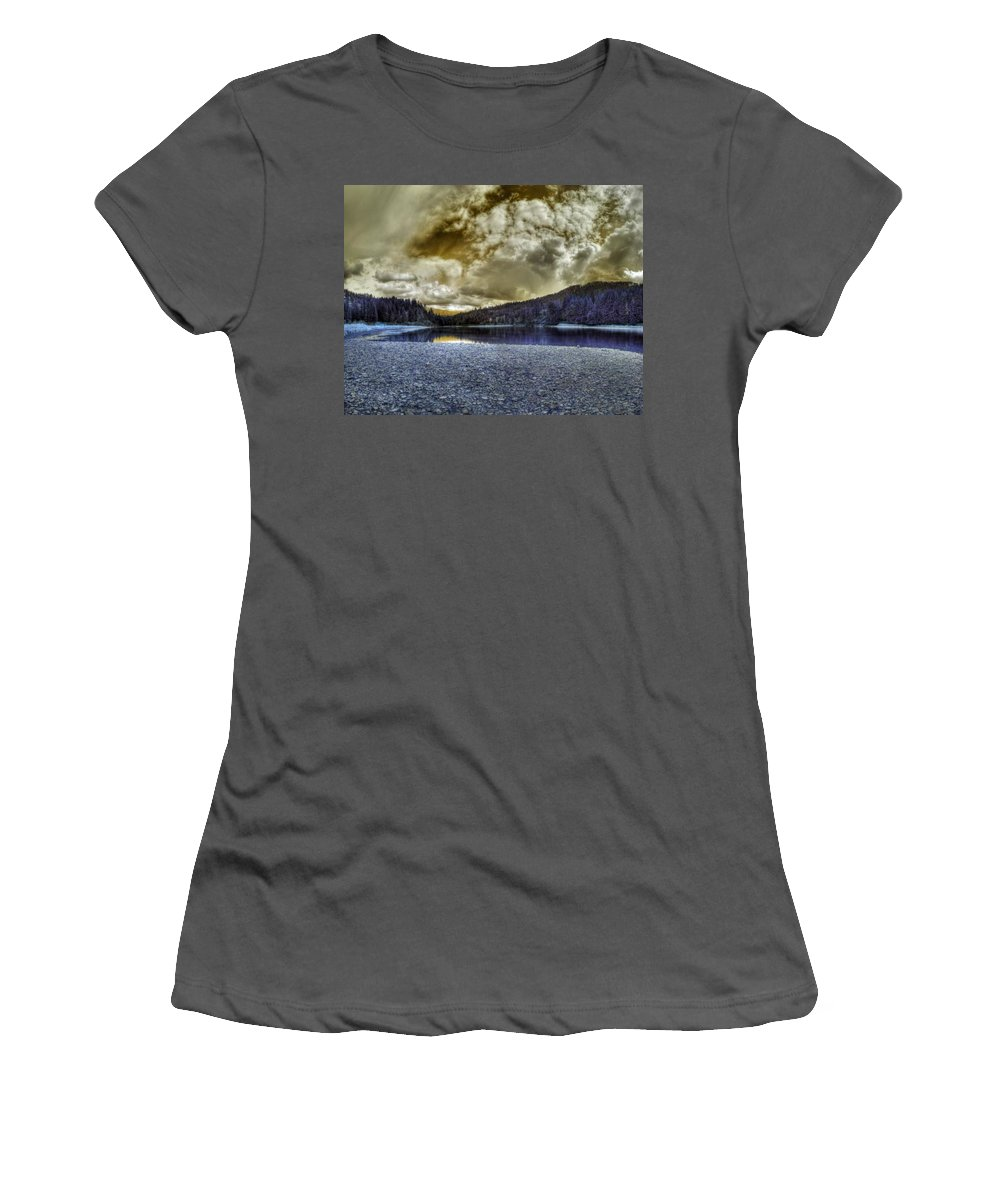 Digital Fantasy Women's T-Shirt (Athletic Fit) featuring the photograph An Idaho Fantasy 3 by Lee Santa