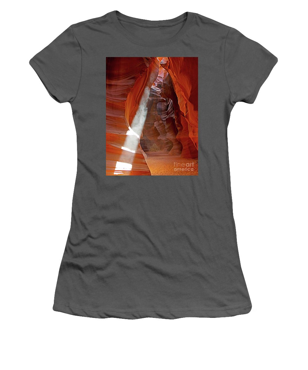 Antelope Canyon Women's T-Shirt (Athletic Fit) featuring the photograph Antelope Canyon by Jack Schultz