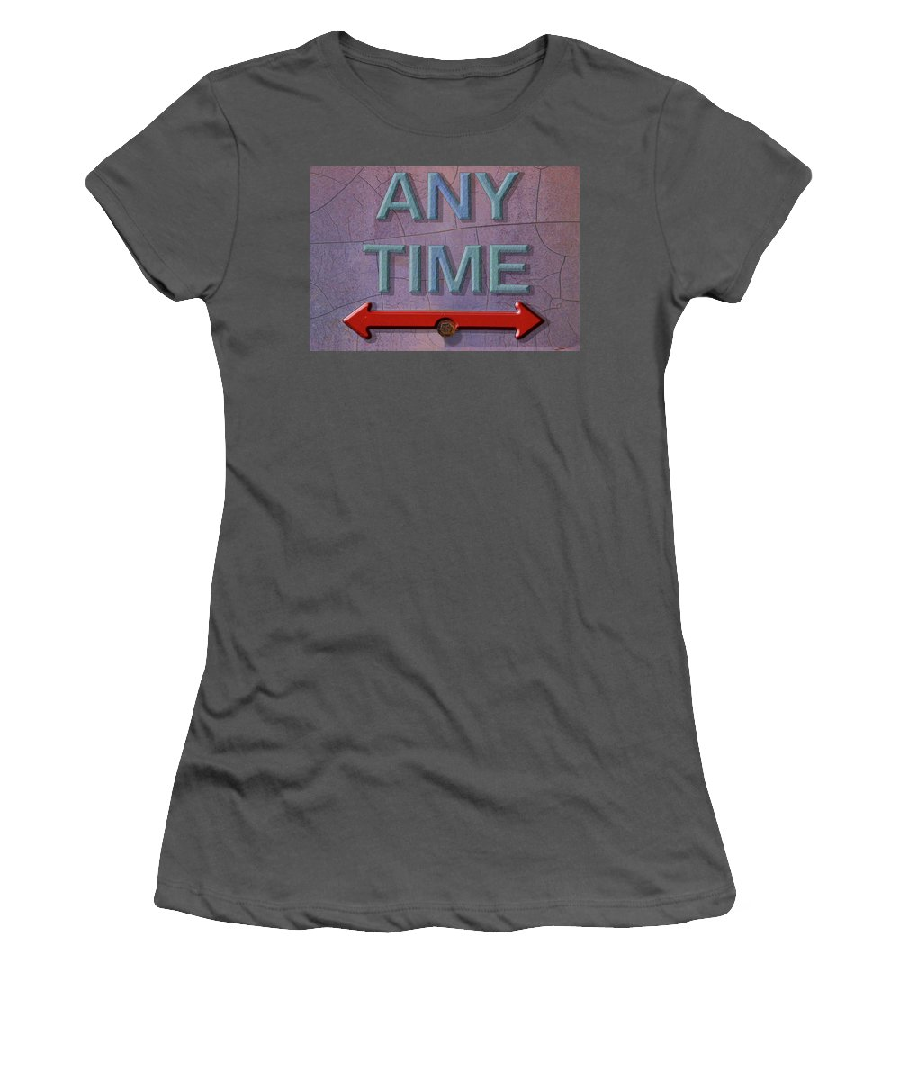 Photography Women's T-Shirt (Athletic Fit) featuring the photograph Any Time Any Where by Paul Wear