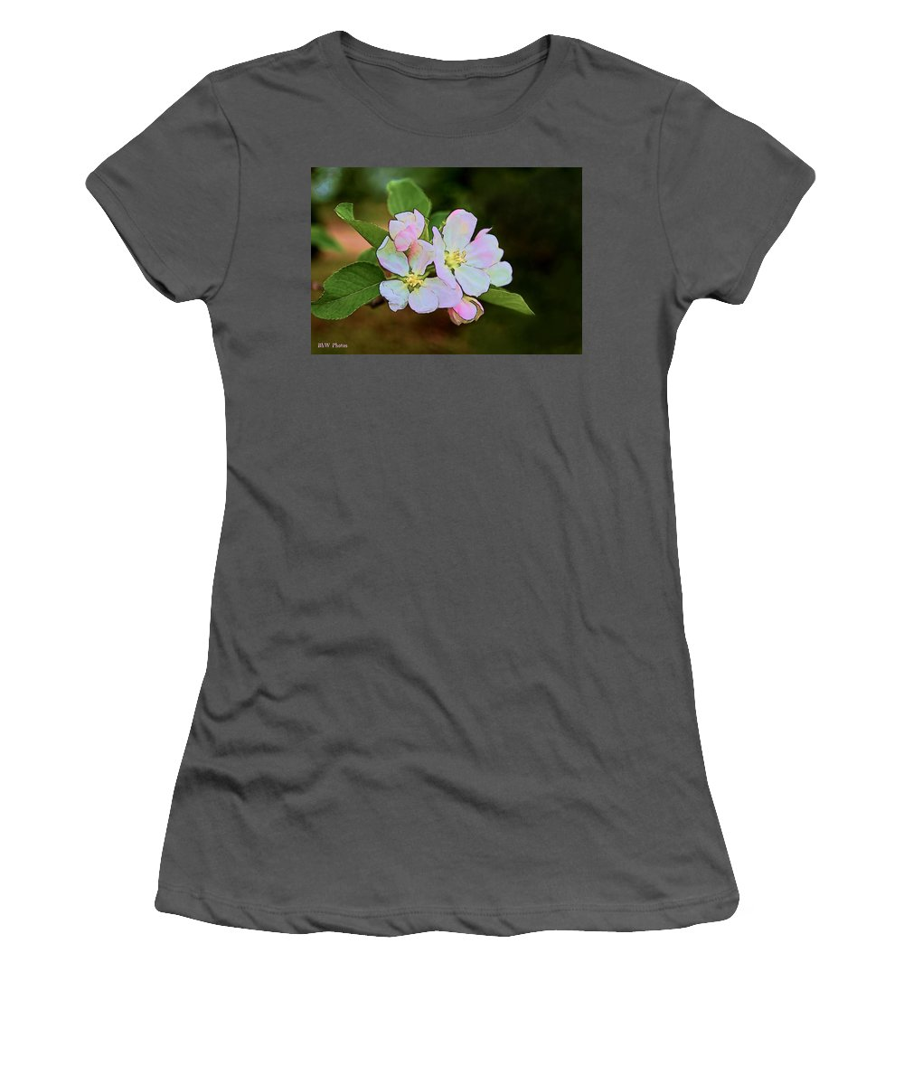 Women's T-Shirt (Athletic Fit) featuring the photograph Apple Blossom by Bonnie Willis