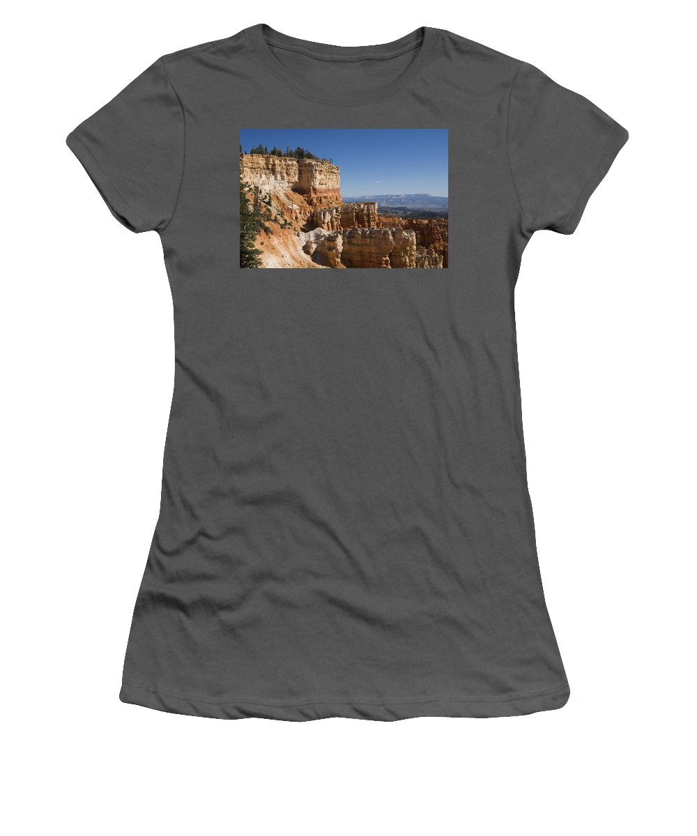 America Women's T-Shirt (Athletic Fit) featuring the photograph Aqua Canyon by Gloria & Richard Maschmeyer