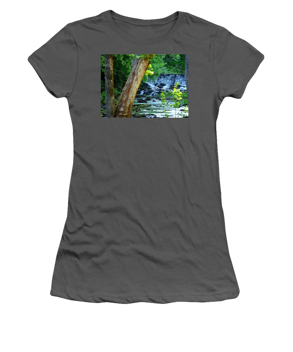 River Women's T-Shirt (Athletic Fit) featuring the photograph As The River Runs Through It by Maria Urso