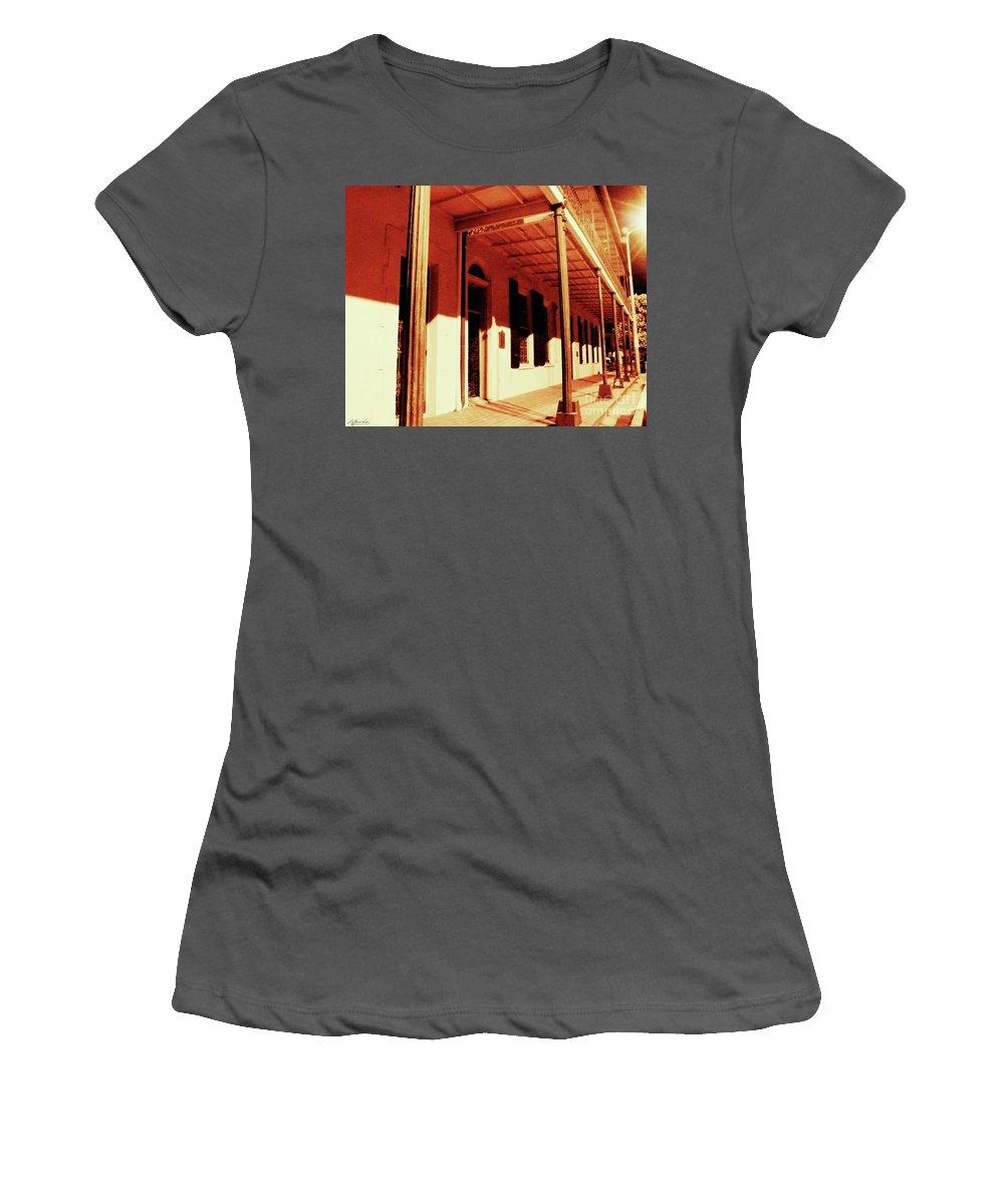 Baton Rouge Women's T-Shirt (Athletic Fit) featuring the photograph Baton Rouge Downtown by Lizi Beard-Ward