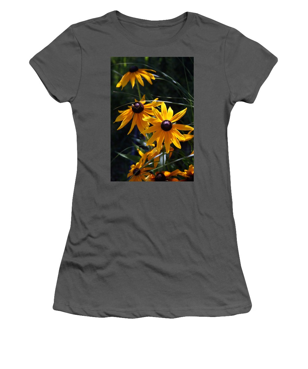 Nature Women's T-Shirt (Athletic Fit) featuring the photograph Black Eyed Susan by Kay Novy
