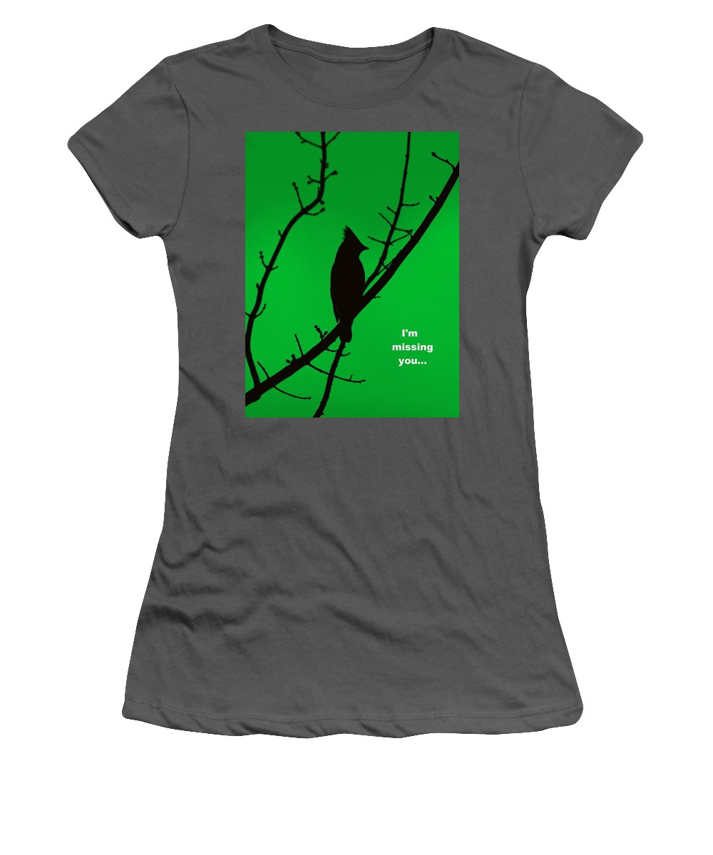 Silhouettes Women's T-Shirt (Athletic Fit) featuring the photograph Black On Green by Travis Truelove