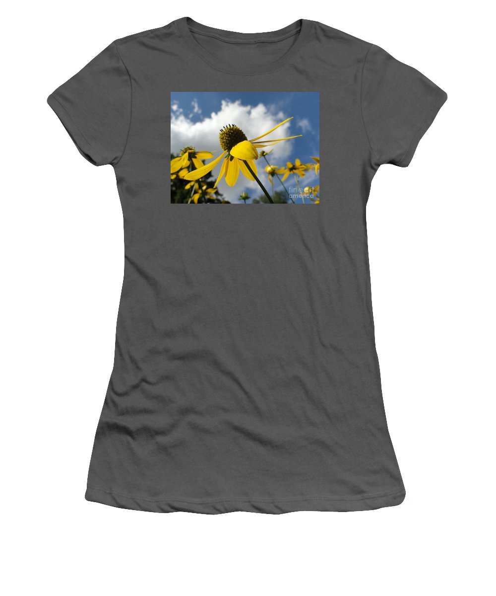 Bandon Beach Women's T-Shirt (Athletic Fit) featuring the photograph Blue Yeller by Trish Hale