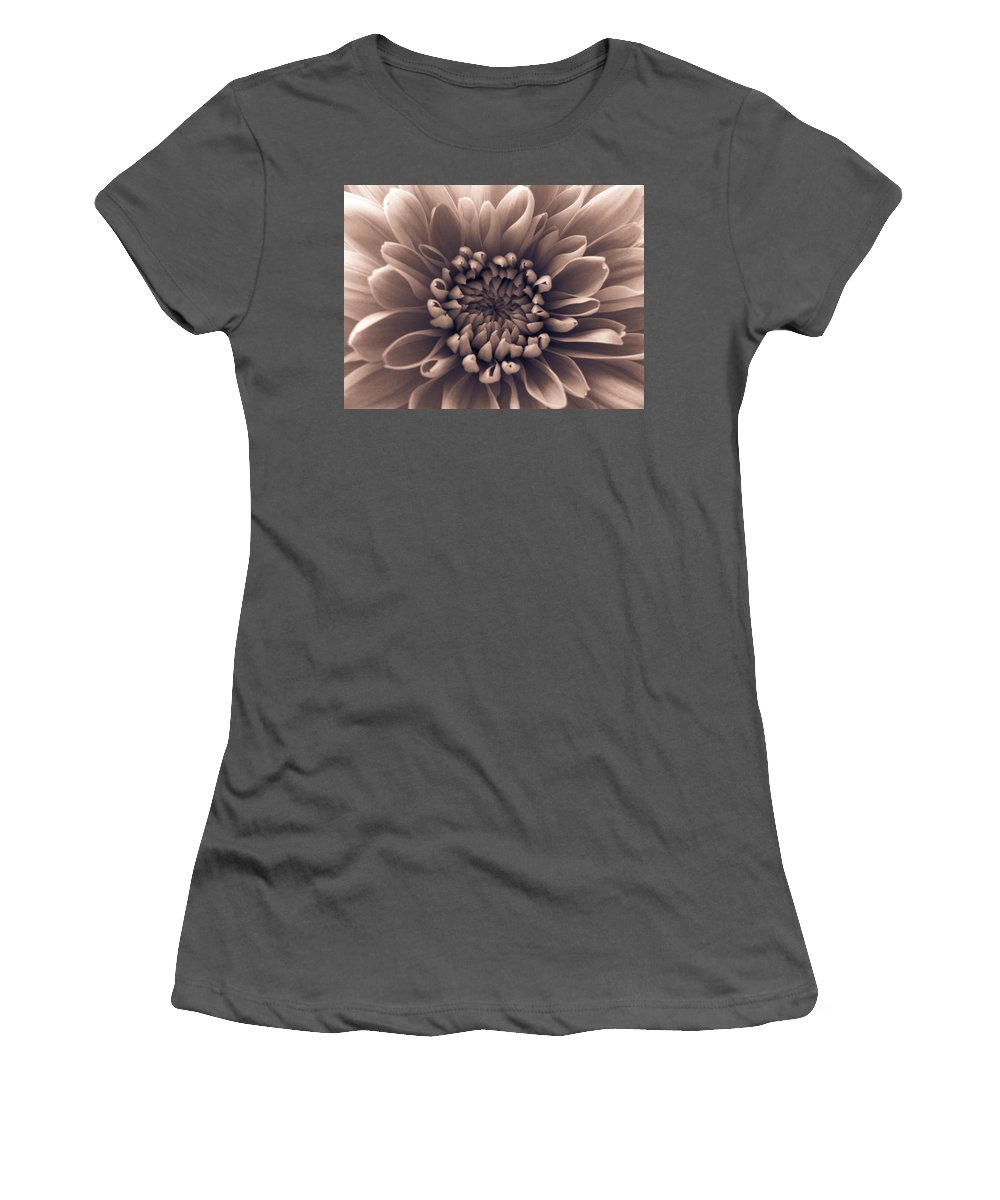 Pink Women's T-Shirt (Athletic Fit) featuring the photograph Brown Flower by Dawn OConnor