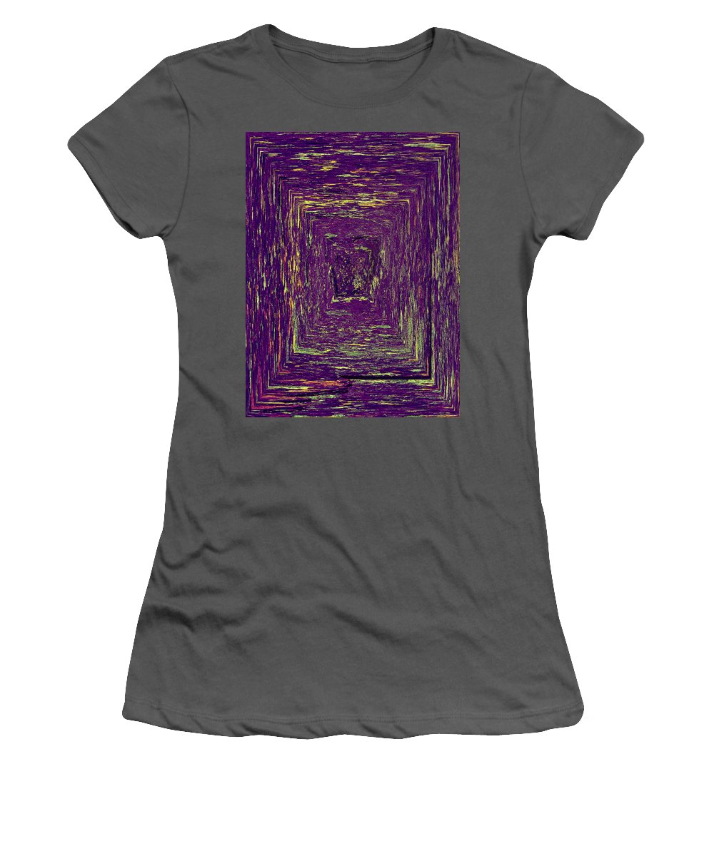 2012 Women's T-Shirt (Athletic Fit) featuring the photograph Coloristic Abstracts From Varikallio At Hossa by Jouko Lehto