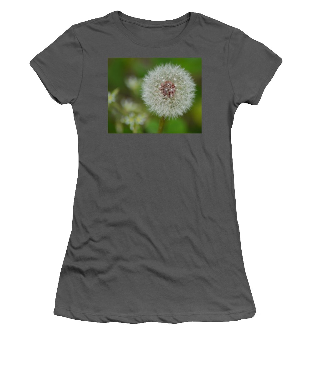 Dandelion Women's T-Shirt (Athletic Fit) featuring the photograph Dandelion Macro by Sandi OReilly
