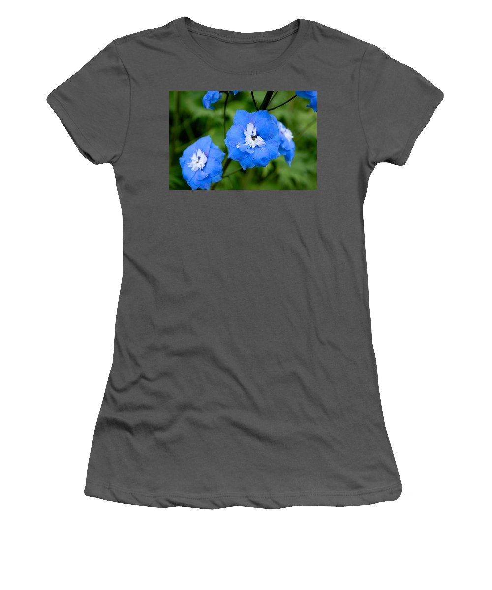 Flowers Women's T-Shirt (Athletic Fit) featuring the photograph Delicate Blue by Eric Tressler