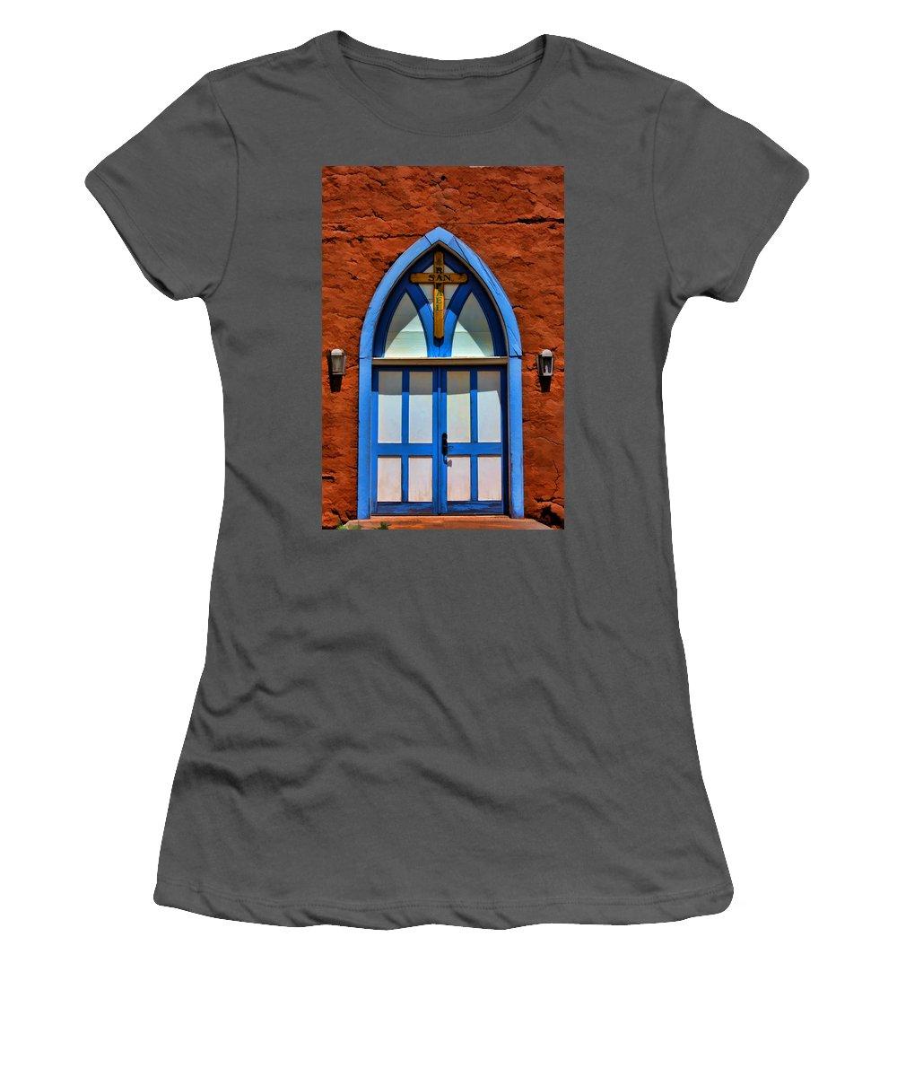 Door Women's T-Shirt (Athletic Fit) featuring the photograph Doors To San Rafael by David Sanchez