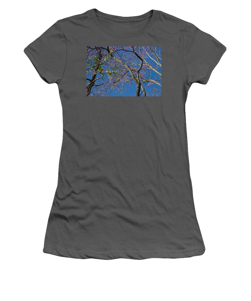 Lavender Blooms Women's T-Shirt (Athletic Fit) featuring the photograph Entwining by Joseph Yarbrough