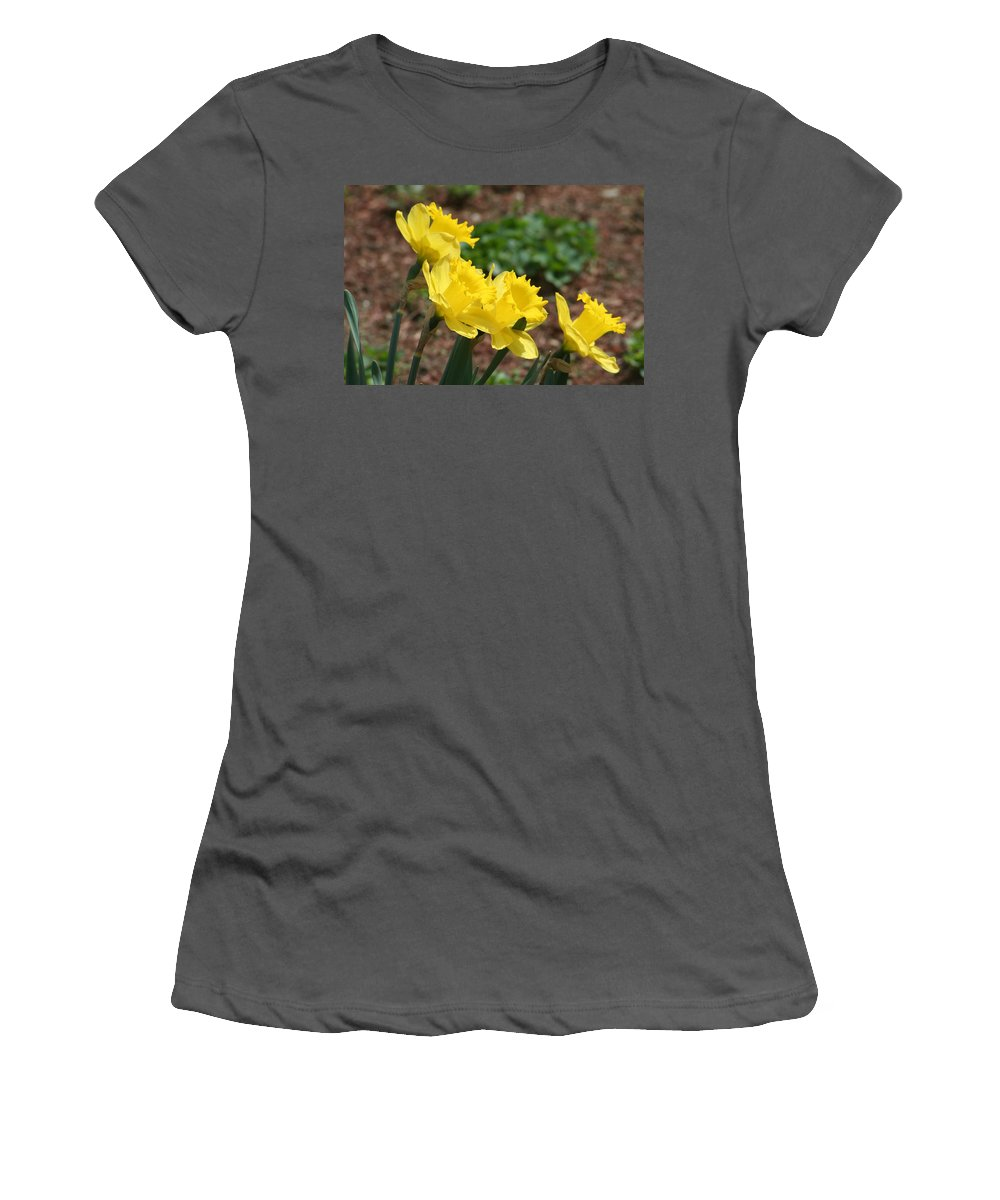 Women's T-Shirt (Athletic Fit) featuring the photograph Family Of Four by Barbara S Nickerson